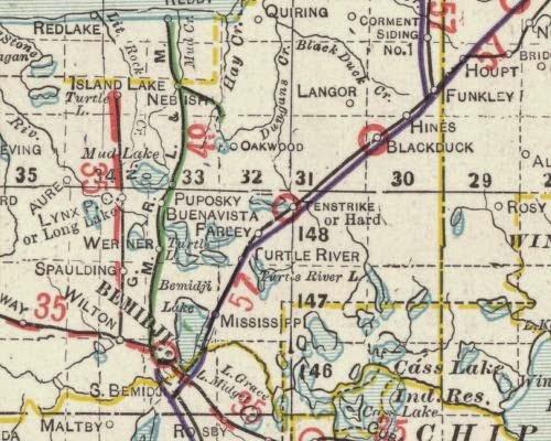 Around the Bemidji Area Wilton Northern Rail Road