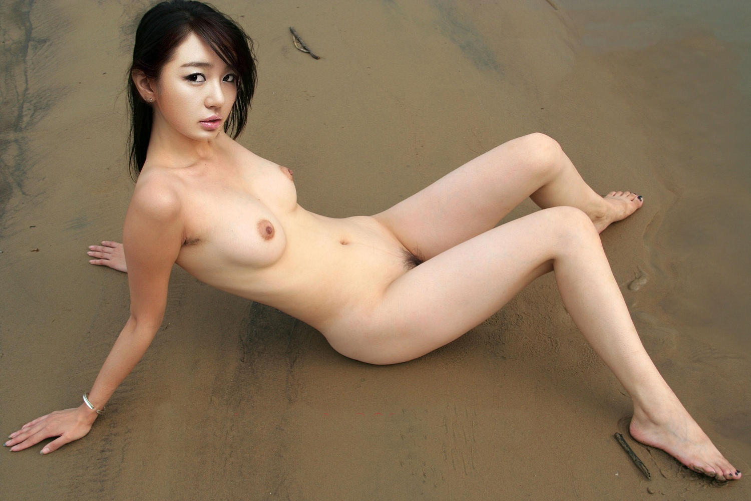 Naked boobs skinny dipping