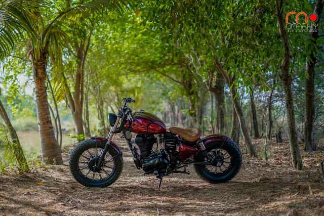 Modified Royal Enfield 350 Classic Bobber by PMS Motorcycles