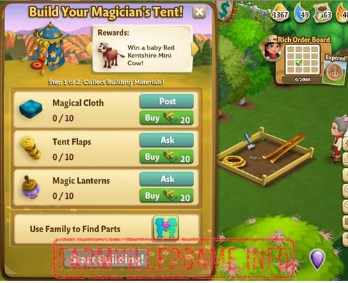Magician's Tent Construction