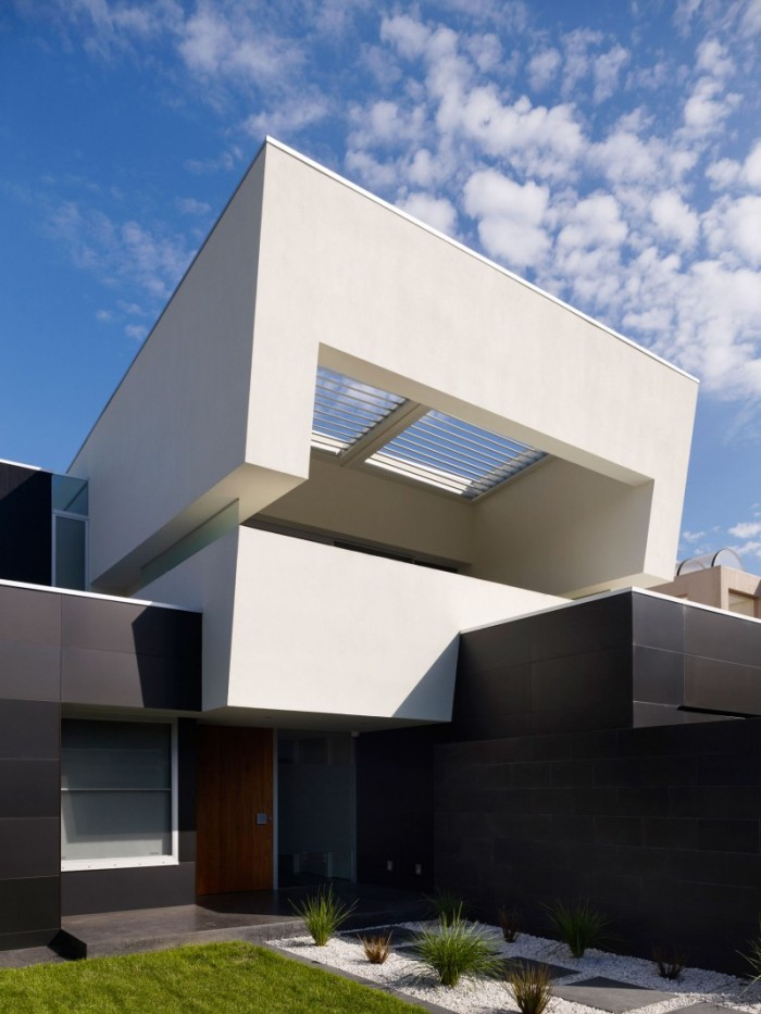 Hogares frescos dise o de interiores en casa de dos pisos Disenos de casas contemporaneas pequenas