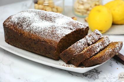 Cake aux noisettes et aux amandes, recette végétale