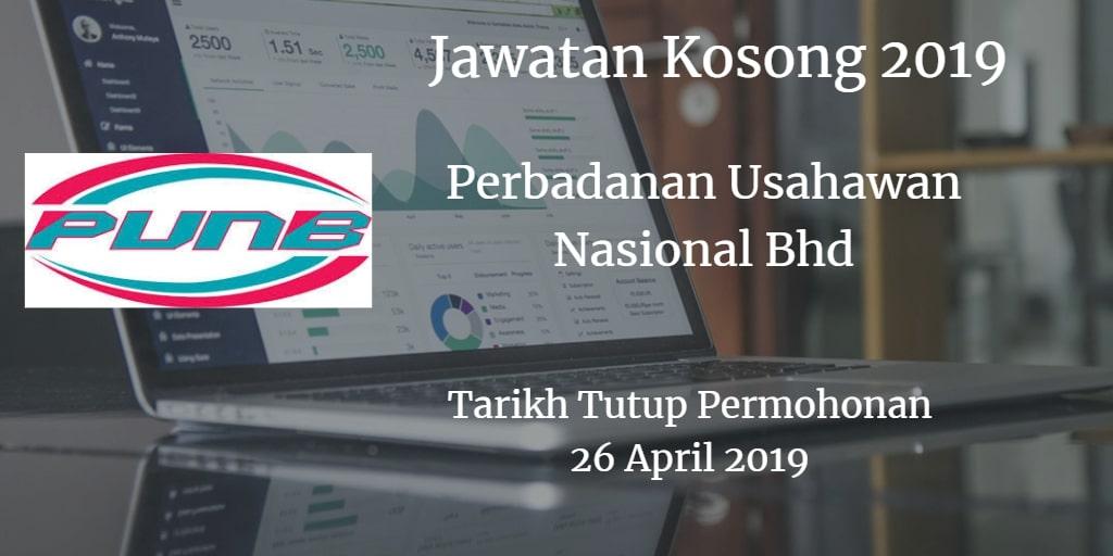Jawatan Kosong PUNB 26 April 2019