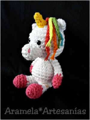 patron unicornio amigurumi mini 4