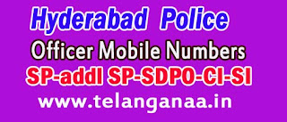 Hyderabad Police Officer Mobile / Land Line Numbers List