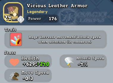 World of Legends Vicious Leather Armor