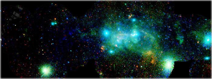 imagens do centro da Via Láctea