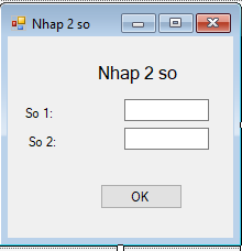tinhoccoban.net - Giao diện cho form nhập 2 số.