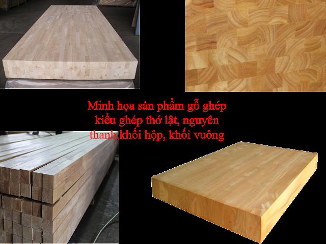 gỗ ghép nguyên thanh, thớ lật,khối hộp, khối vuông