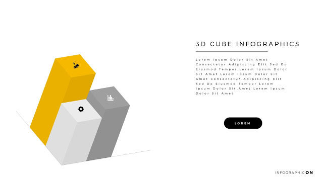 3D CUBE Infographic Elements for PowerPoint Slide 4
