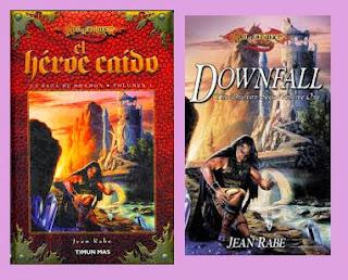 Portada de la novela de fantasía El héroe caído, de Jean Rabe