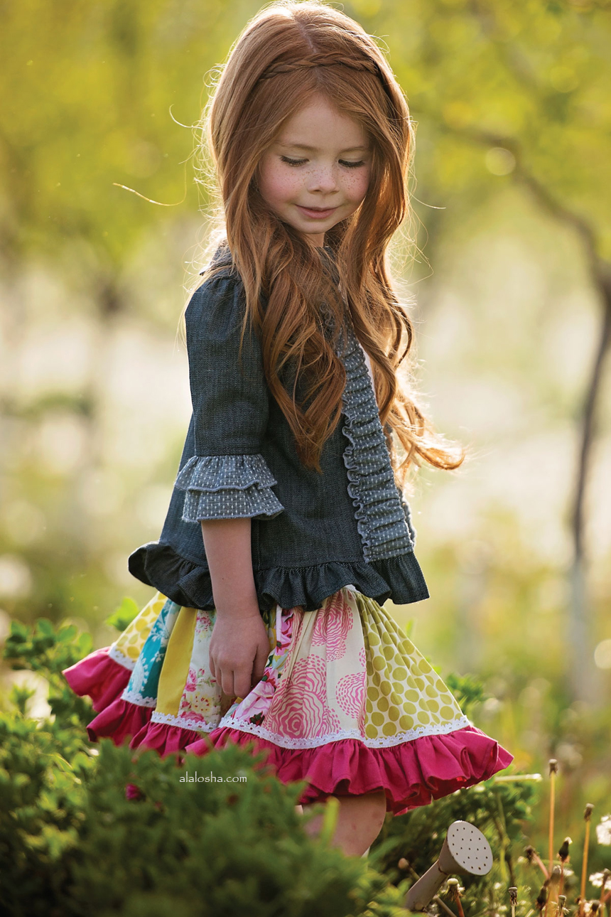 Alalosha Vogue Enfants Child Model Of The Day Lёlya: Daffodils & Dandelions In The Secret Garden Of Persnickety