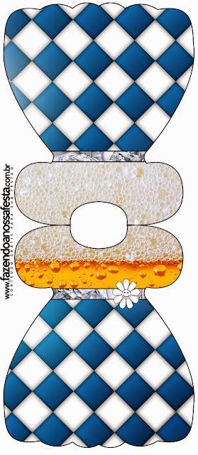 Tarjeta con forma de vestido de Fiesta de la Cerveza.