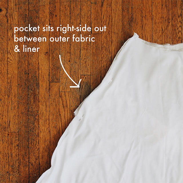 How to: Add pockets to a dress, without a pattern!