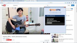 cara menggunakan openvpn client di pc / laptop