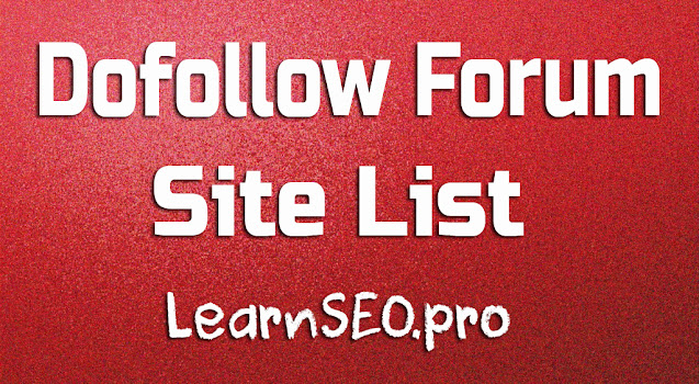 Dofollow Forum Sites