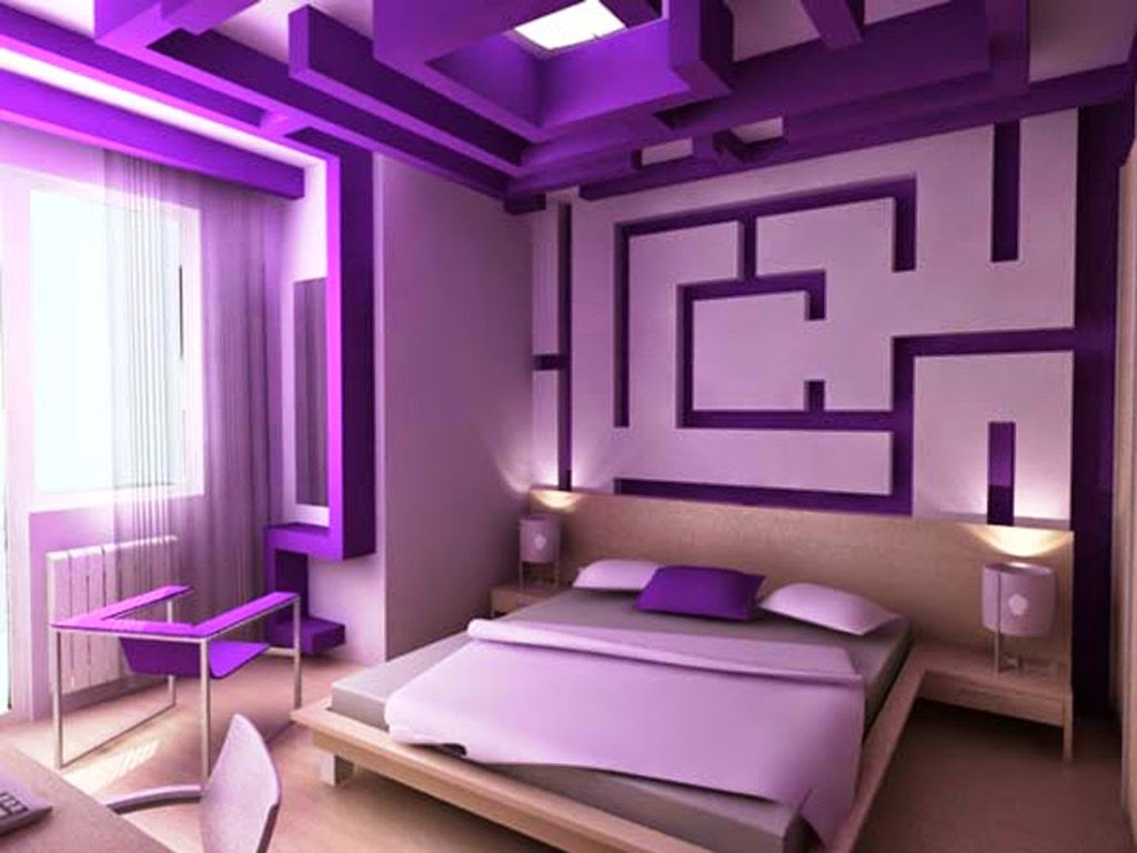 Elegant purple girls rooms 2014