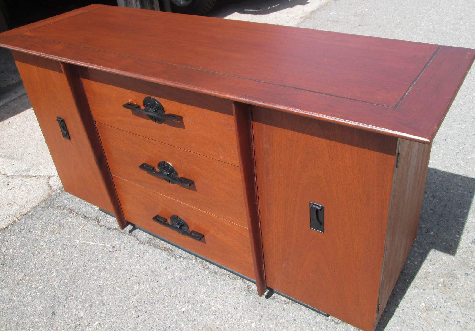 Boho chic 1950s vintage buffet sideboard sold for 1950 s credenza