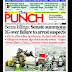 NIGERIA NEWSPAPERS: TODAY'S THE PUNCH NEWSPAPER HEADLINES [1ST FEBRUARY , 2018].