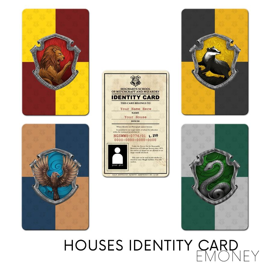 E-Money ID Card Asrama Hogwarts