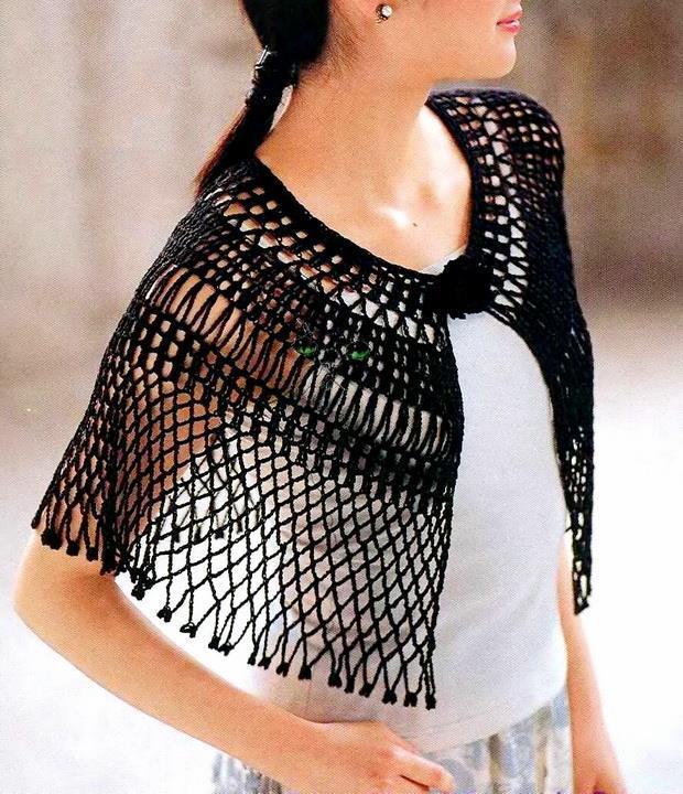 Stylish Easy Crochet Crochet Lace Cape Pattern For Summer Delicate