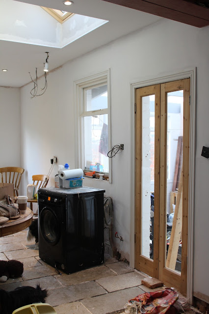 kitchen renovation progress of a victorian terrace