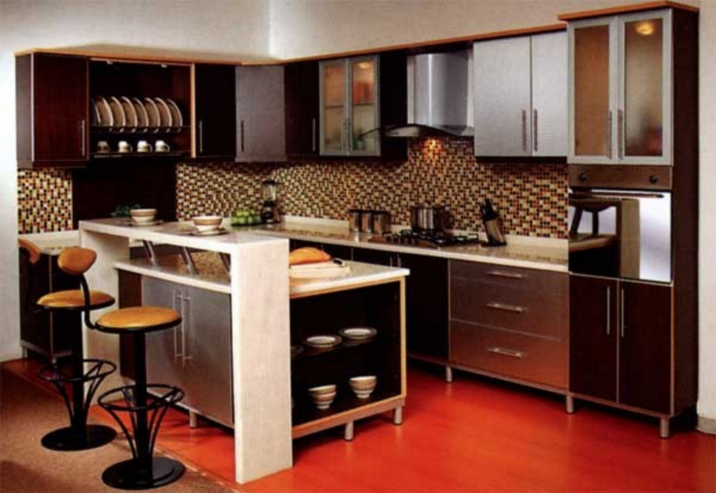 kitchen set dengan meja bar 3