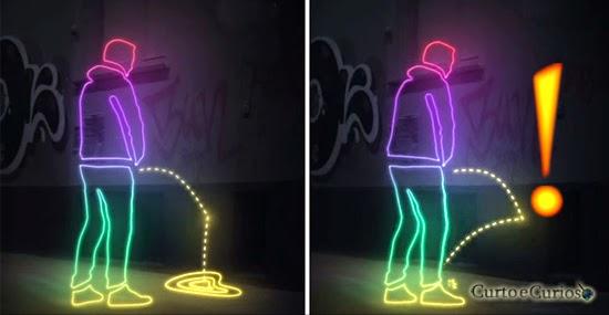 Xixi na parede nunca mais! Tinta 'hightech' joga a urina de volta nos 'mijões'