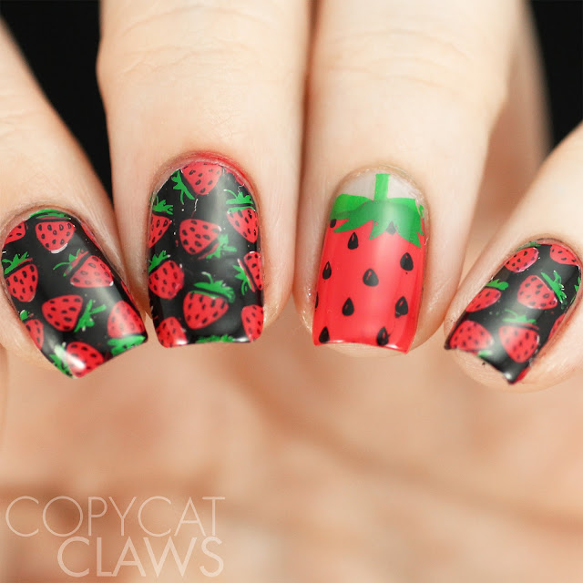 Strawberry Nail Stamping