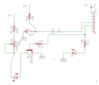Tremolo with tap tempo DIY schematic