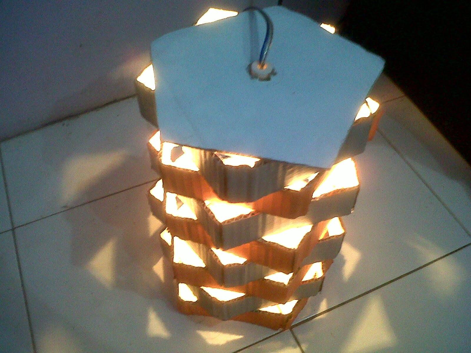 Tutorial cara membuat tempat lampu gantung dari kardus