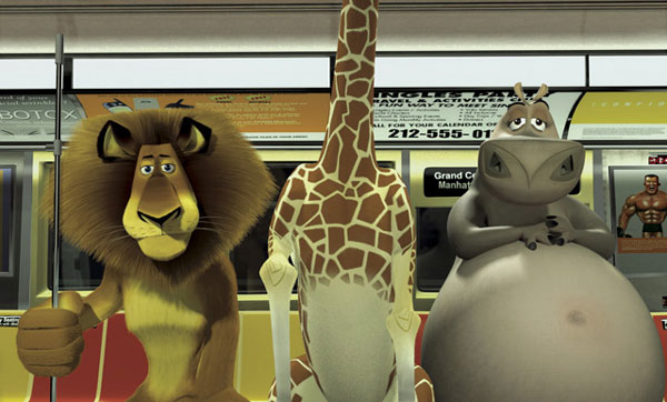 The animals on the subway in Madagascar animatedfilmreviews.filminspector.com