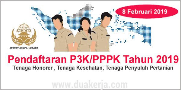 Pendaftaran P3K/PPPK Resmi Dibuka Februari 2019