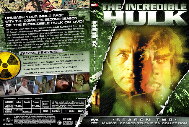 Capa DVD The Incredible Hulk Segunda Temporada Completa