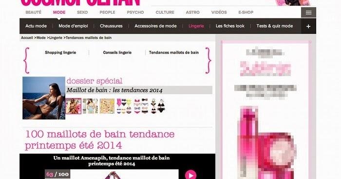60e5e0beab Lili Shopping - Bijoux et Accessoires Online: Le bikini Amenapih by  Hipanema sélectionné par Cosmopolitan est disponible sur Lili Shopping