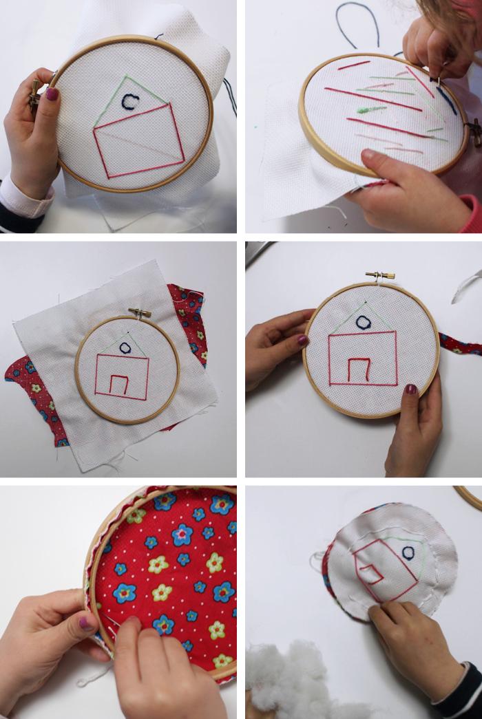 coser con niños diy cojín
