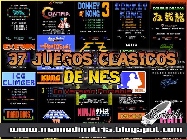 Mame Dimitris Arcade Pack 37 Juegos Clasicos De Nes