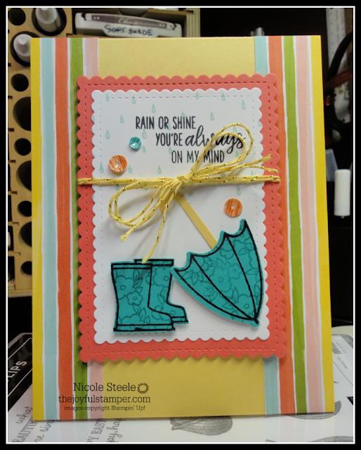 On My Mind card using Stampin' Up!'s Under My Umbrella bundle | Nicole Steele The Joyful Stamper