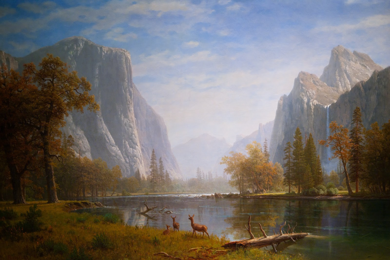 Upper Yosemite Falls Wallpaper 19th Century American Paintings Albert Bierstadt Ctd