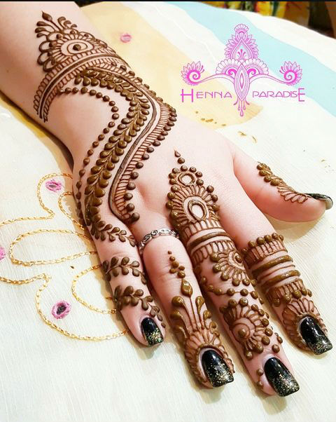 Beautiful eid mehndi designs for girls 2018 mehndi lagao backhand floral tikki design thecheapjerseys Image collections