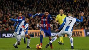 مقابلة فريق برشلونة امام اسبانيول اليوم في الدوري الاسباني