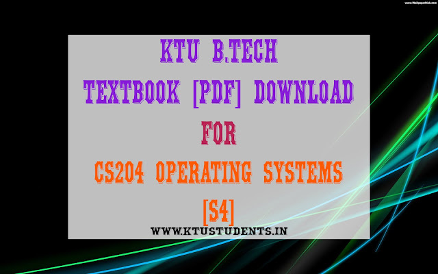 ktu cs204 os pdf textbook download free