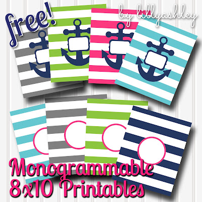 free download preppy stripe printables for monogram circle monogram