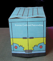 back view of van pop up card
