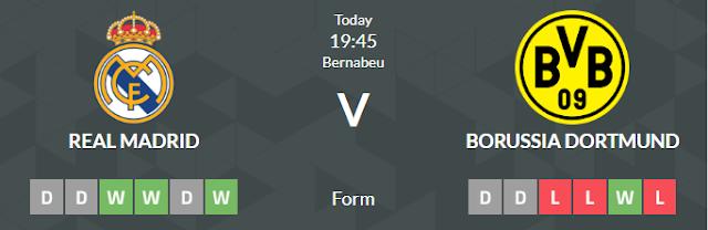 Prediksi Super dan Panduan Taruhan Real Madrid vs Borussia Dortmund