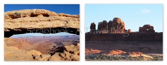 Mesa Arch and Wooden Shoe Arch in Canyonlands National Park