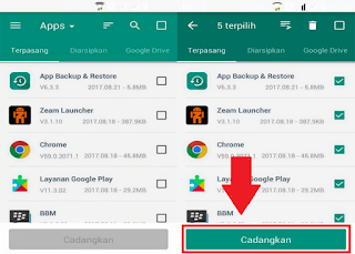 cara backup aplikasi android