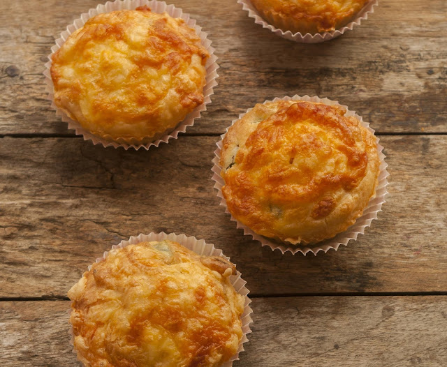 Grab and go egg muffins loaded with cheese and bacon!