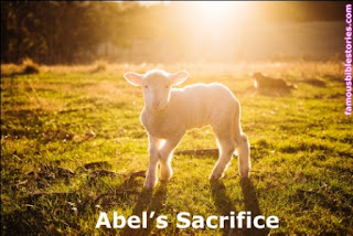 Abel's sacrifice offering accepted by God,