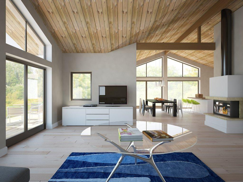 Contemporary House Plans: Affordable Small House Plan CH128